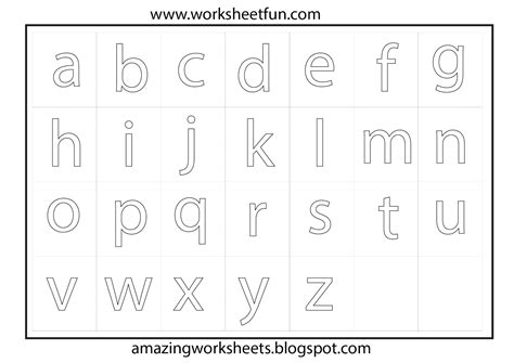 alphabet tracing worksheets a to z a z