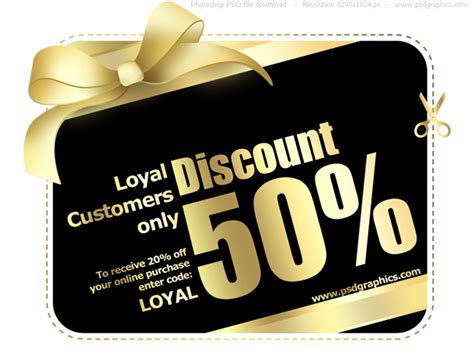20 discount card template vip card psd psdgraphics