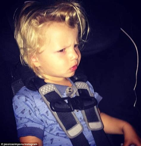 this 2 year old harry styles mini me is showing one jessica simpson shares snap of son ace with harry styles