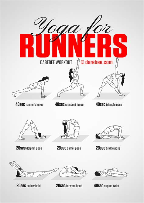 printable yoga poses for runners yoga for runners