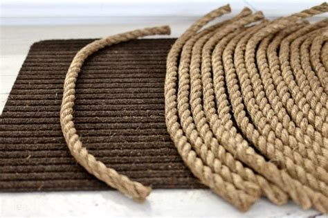 From Rope To Rug A Diy Tutorial Tidbits Rope Rug
