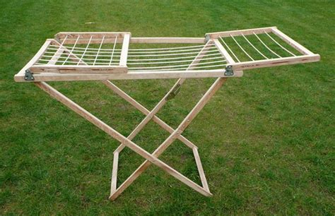 Amish Drying Rack by Large Amish Wooden Clothes Drying Rack Gardenista