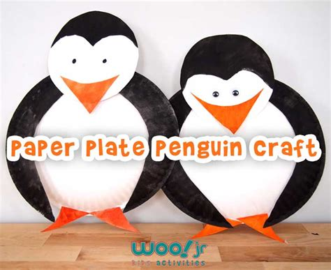 Penguin Paper Plate Craft - preschool craft winter crafts penguin craft