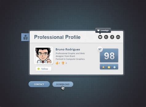 card website free professional web card profile free psd in photoshop psd