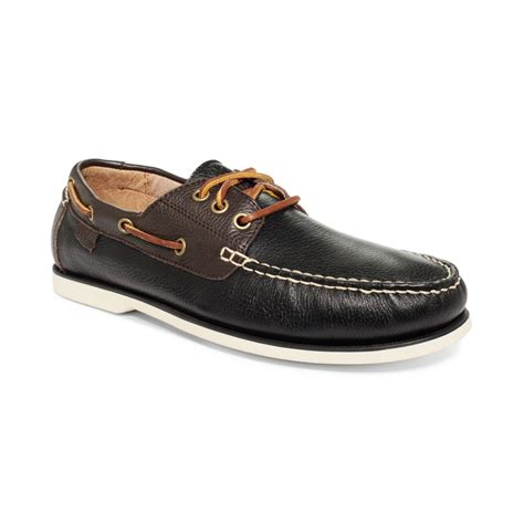 ralph polo bienne ii boat shoes in black for