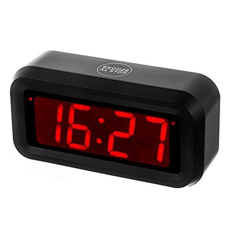 kwanwa led digital alarm clock battery powered only small for bedrooms ebay