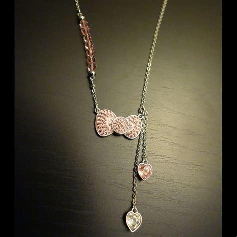 Hello Pink Necklace swarovski swarovski hello pink bow necklace from o s closet on poshmark