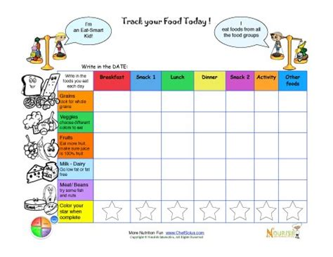 printable food diary for child printable meal tracking sheets for kids from nourish