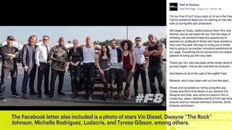 fast and furious 8 casting director fast and furious 8 vin diesel dwayne johnson cast post