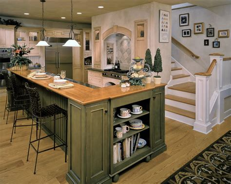 green kitchen island woodlawn residence rustic kitchen