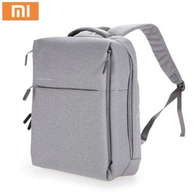Xiaomi Mi 14 Inch Style Backpack Leisure Sports Bag Grey xiaomi backpack best deals shopping gearbest