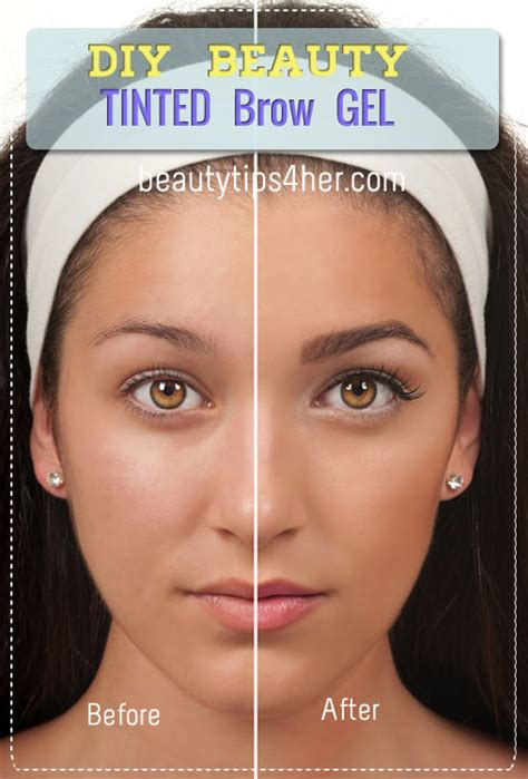 how to color in your eyebrows easy tinted brow gel skin care