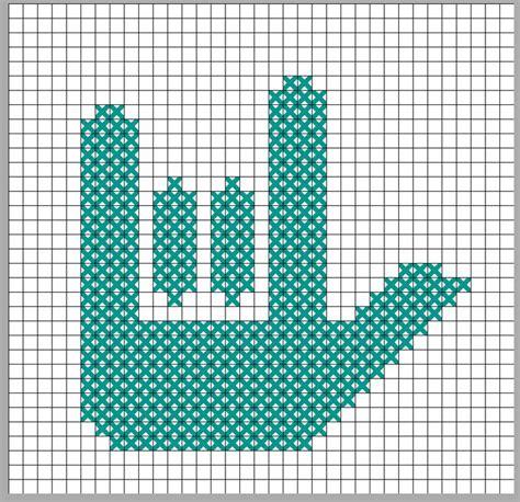 cross stitch pattern sign language 17 best images about plastic canvas on pinterest plastic