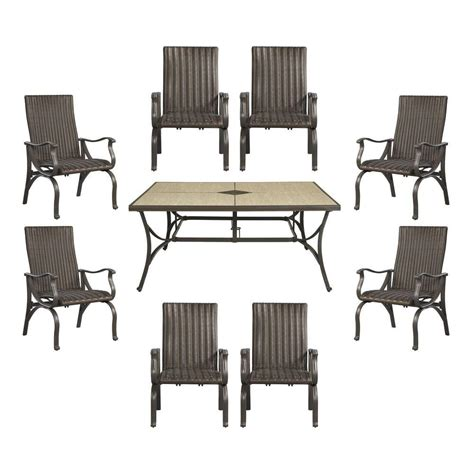 9 Pc Patio Dining Set Hton Bay Pembrey 9 Patio Dining Set Hd14227 The Home Depot