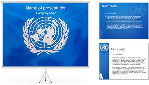 Powerpoint Templates United Nations | united nations un flag powerpoint template backgrounds