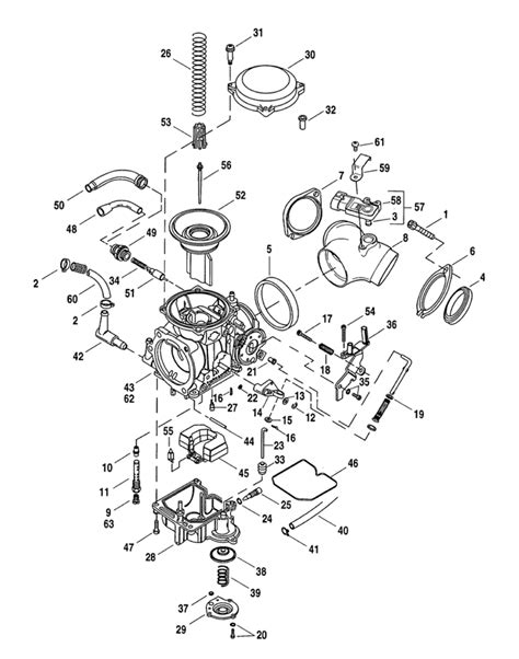 motorcycle parts diagram cv performance harley cv carburetor parts diagram