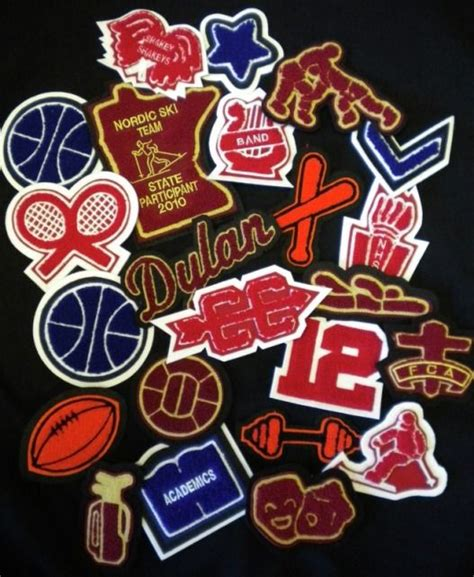 letter jacket patches high school letterman s jacket patches winning 1371