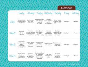 Monthly Food Menu Template by Sanity Savers Part 2 Design Finch