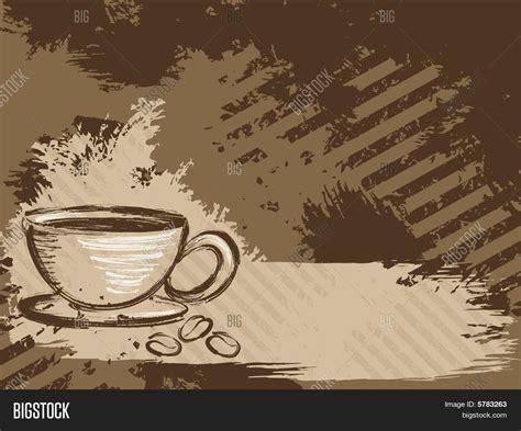 coffee cafe wallpaper vector horizontal grungy coffee vector photo bigstock