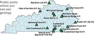 Kentucky State Parks Map by Parks In Kentucky