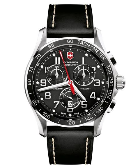 Original Swiss Army Chrono Ring Gold Black Leather victorinox swiss army s chronograph classic xls black leather 45mm 241444