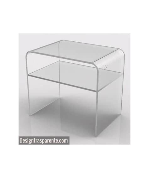 comodino trasparente comodino con ripiano 50x50h50 in plexiglass trasparente