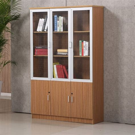 Book Cabinet With Glass Doors Excellent Quality Office Book Self Furniture Wooden Office