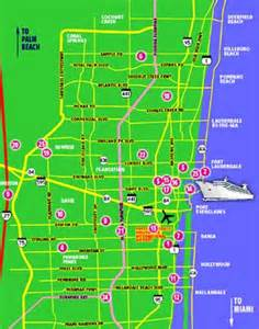 fort on map fort lauderdale maps