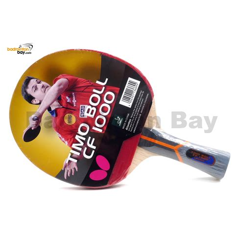Bat Tenis Meja Butterfly Timoball 2000 butterfly timo boll cf 1000 fl shakehand table tennis carbon fiber racket