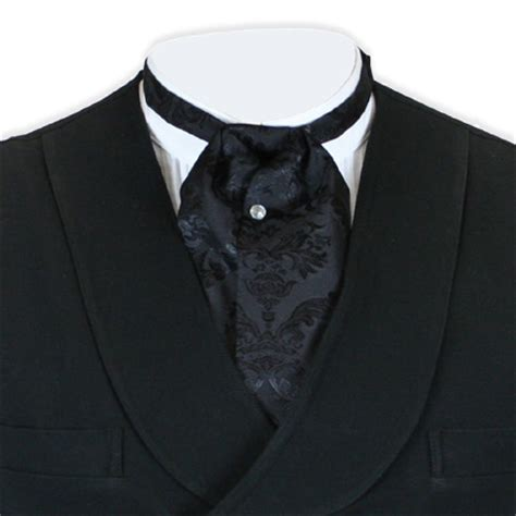 satin puff tie black farnsworth
