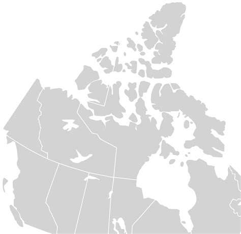canada map vector blank map of canada