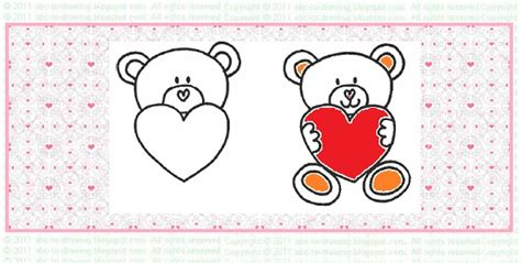 valentines teddy drawing abc to drawing ideas how to draw