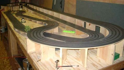 ho slot car racing routed wooden track