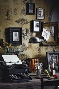 decorating an office with vintage accessories rustic