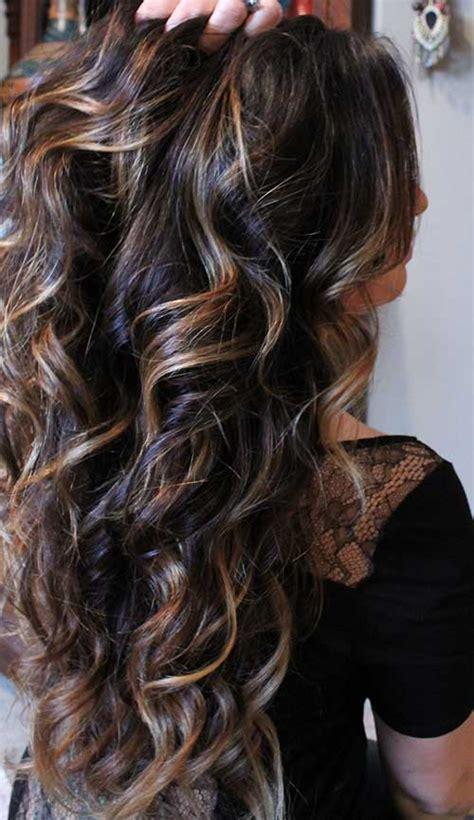 highlights for long dark fine hair 25 dark highlighted hair long hairstyles 2017 amp long