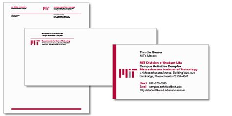 stationery mit graphic identity
