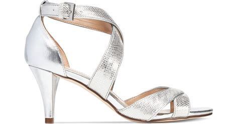 silver strappy evening sandals style co style co pravati strappy evening sandals in