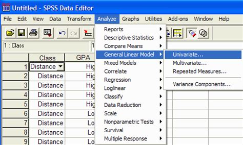 design of experiment using spss using spss for factorial between subjects analysis of