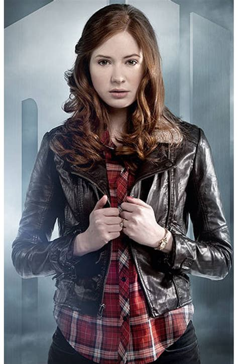 dr who doctor who pond brown leather jacket