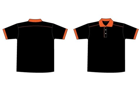Sugar Kaos Baju Tshirt free black orange collar t shirt template free vector