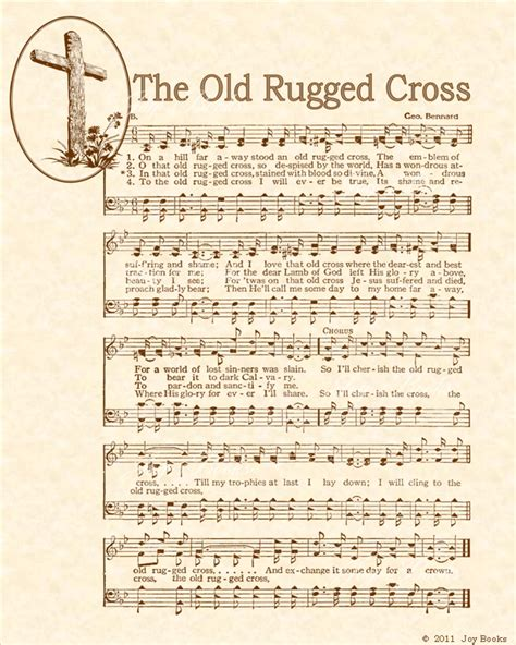 the rugged cross song hymns t vintageverses
