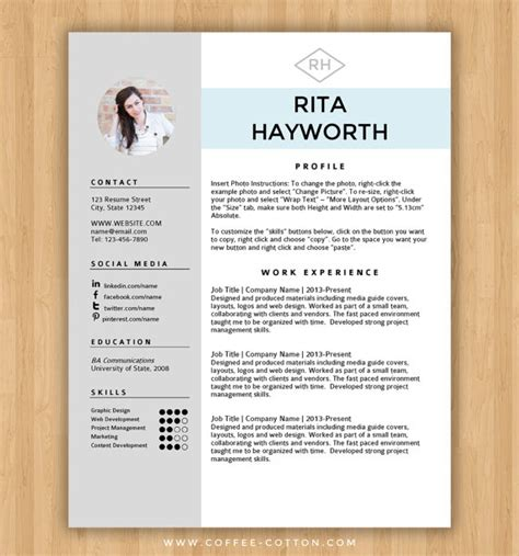 resume templates word free cv template 303 to 309