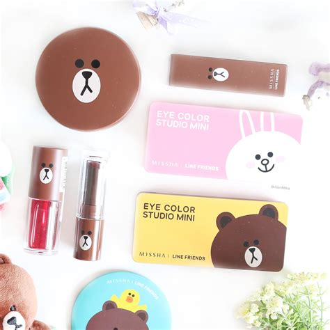 Brown Missha Eyecolor Studio Mini Line Friends Eyeshadow missha x line friends eye color studio mini review swatch limited edition jean milka