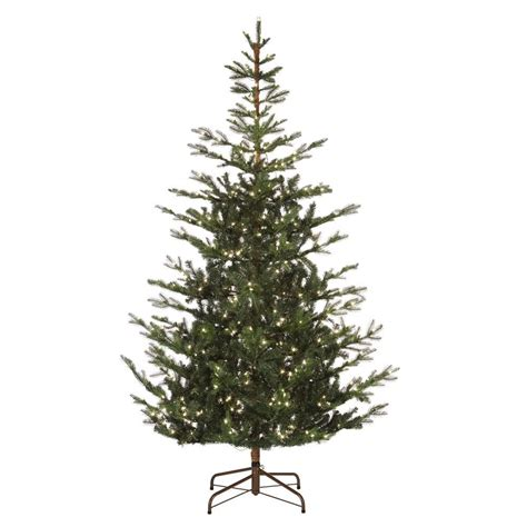 75 ft just cut norway spruce ez light artificial christmas tree with 800 color lights ge 7 5 ft just cut ez light spruce c3 dual color 17167hd the home depot