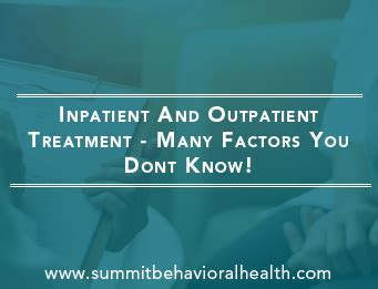 Outpatient Detox Dallas by What You Should About Inpatient And Outpatient Rehab