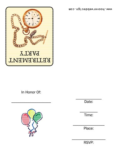 free retirement farewell party invitation templates greetings island