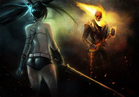 film fantasy heroic ghost rider heroes comics fantasy skulls girls sexy babes
