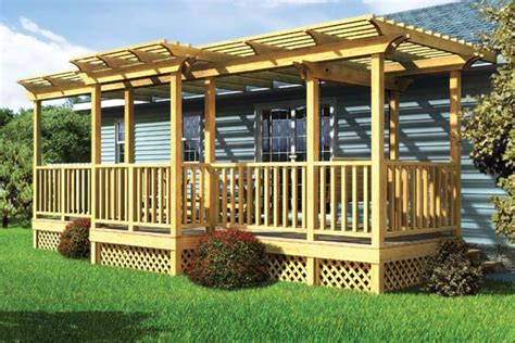 trellis designs for decks project plan 90016 parallel porch deck w trellis and