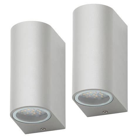 large outdoor up and down wall lights pack of 2 outdoor twin led up and down lighter wall light
