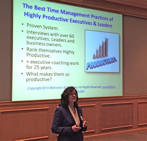 7 time management best practices of highly productive kathryn mckinnon presenting 7 time management best